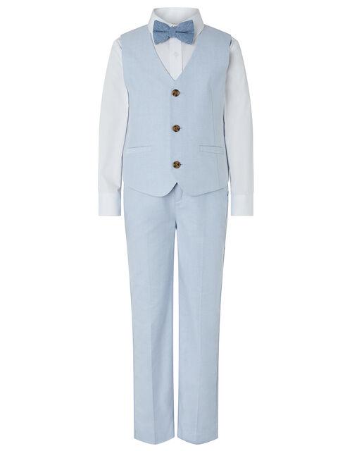 Ollie Oxford Four-Piece Suit Set, Blue (PALE BLUE), large