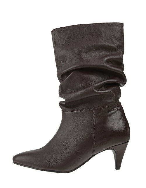 Sal Slouch Suede Boots, Red (BURGUNDY), large