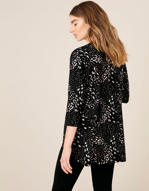 LOUNGE Finlay Feather Print Jersey Cover-Up, Black (BLACK), large