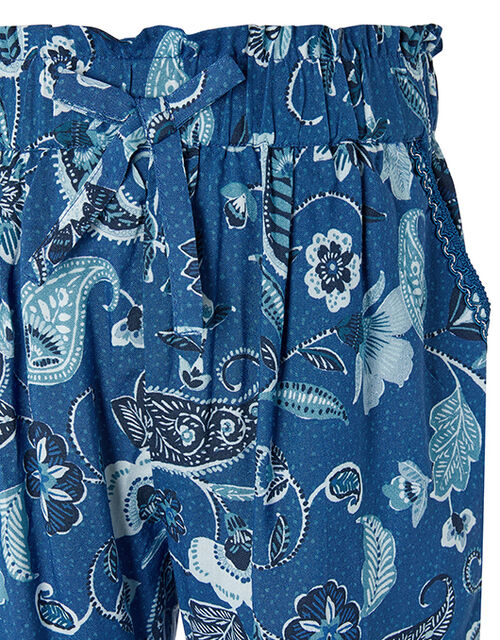 Tallula Paisley Trousers in LENZING™ ECOVERO™, Blue (BLUE), large