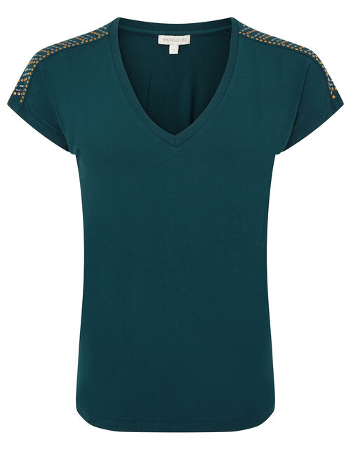 Heat-Seal Gem Jersey T-Shirt, Teal (TEAL), large