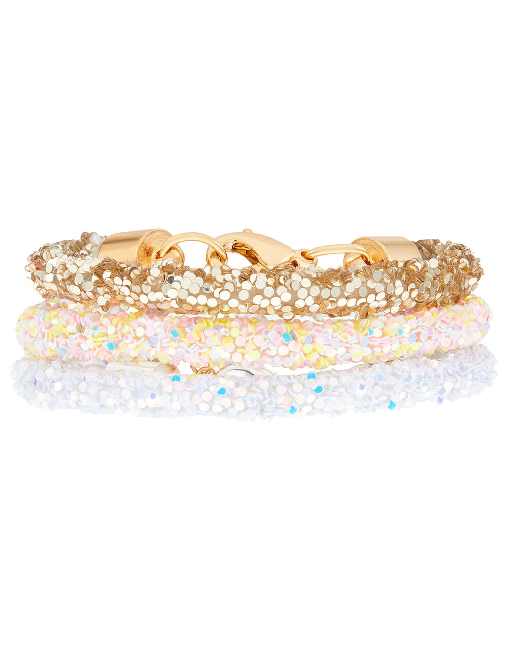 Rainbow Glitter Bracelet Set, , large