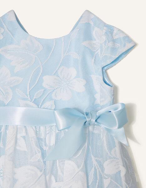 Baby Floral Lace Dress Blue, Blue (BLUE), large