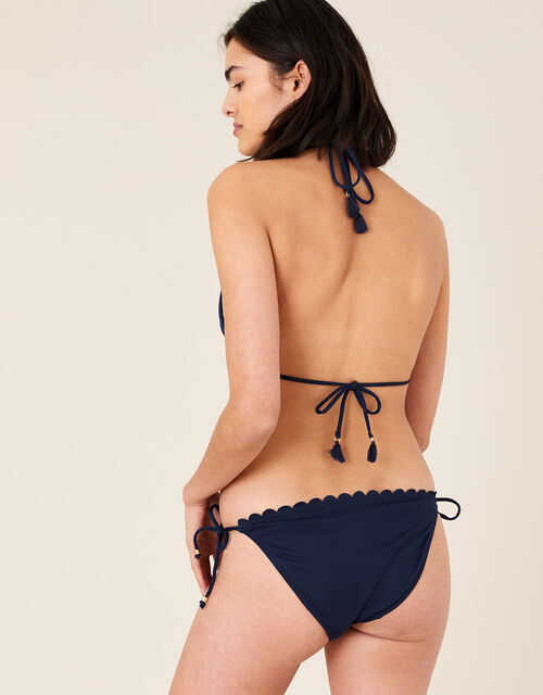 Scallop Bikini Bottom with Recycled Polyester , Blue (NAVY), large