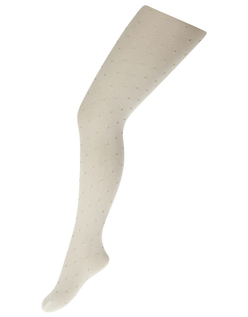Glitter Spot Tights, Gold (GOLD), large