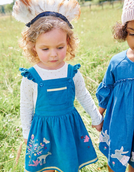 Baby Pinny Dress and Top Set Teal, Teal (TEAL), large