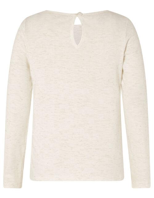 Sparkle Shoe Long Sleeve Top, Ivory (IVORY), large