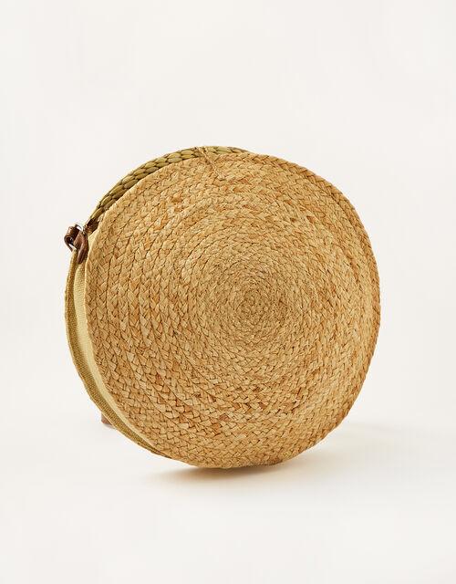 Rosa Round Straw Cross-Body Bag, , large
