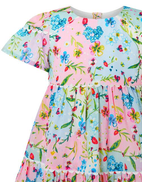 Baby Hester Floral Dress, Pink (PINK), large