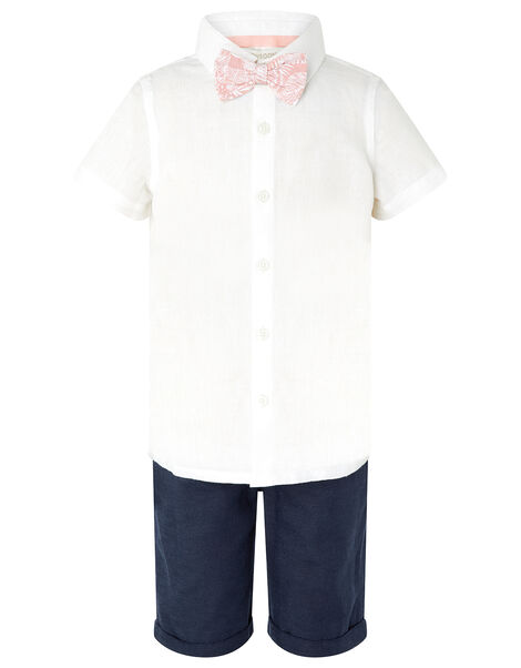 Tom Shirt and Shorts Set with Bow Tie Ivory, Ivory (IVORY), large