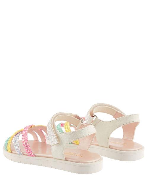Glitter Rainbow Sandals, Multi (MULTI), large