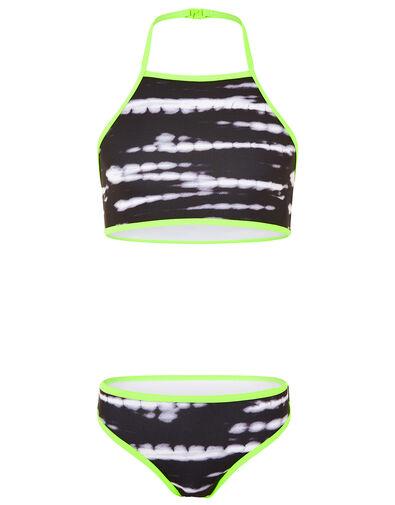 Tie Dye Bikini Set Black, Black (BLACK), large