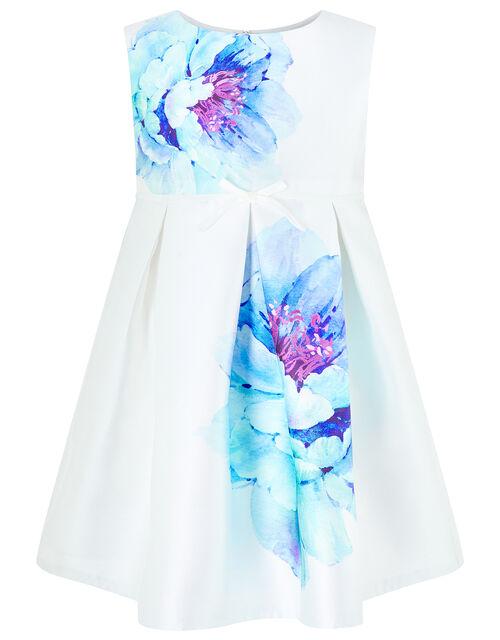 Baby Peony Bloom Print Dress, Ivory (IVORY), large