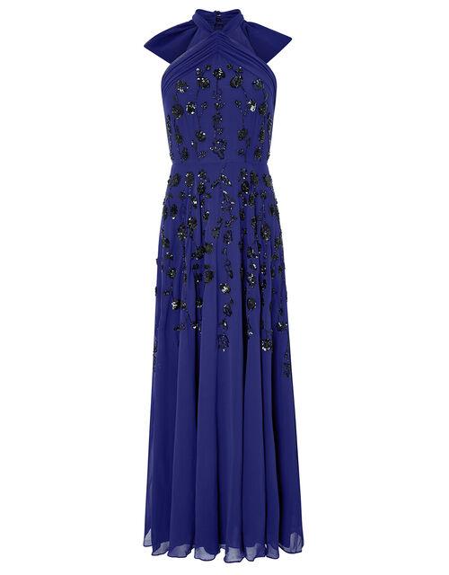 Annabel Floral Embellished Maxi Dress, Cobalt, large