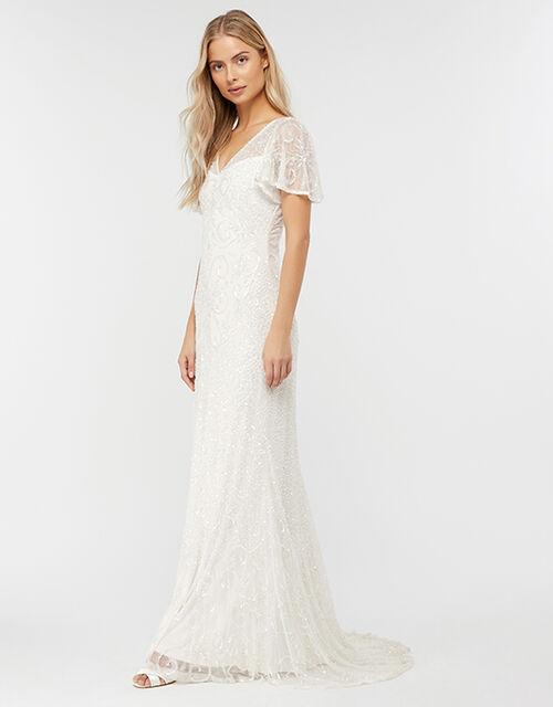Helena Embellished Maxi Wedding Dress, Ivory (IVORY), large