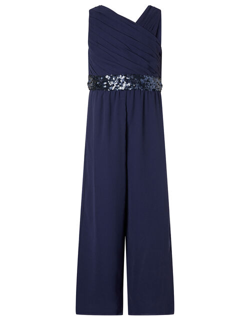 One-Shoulder Sequin Jumpsuit, , large