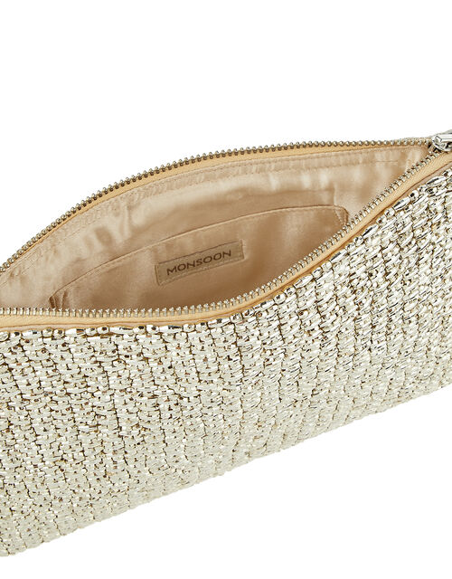 Brielle Beaded Bridal Pouch, , large