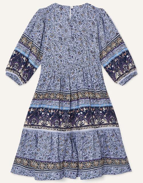 MINI ME Carmel Printed Dress, Blue (BLUE), large
