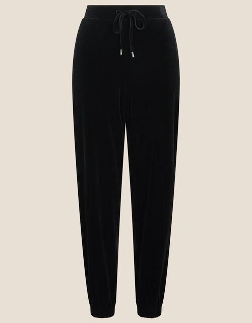 Vera Velvet Cuffed Joggers , Black (BLACK), large