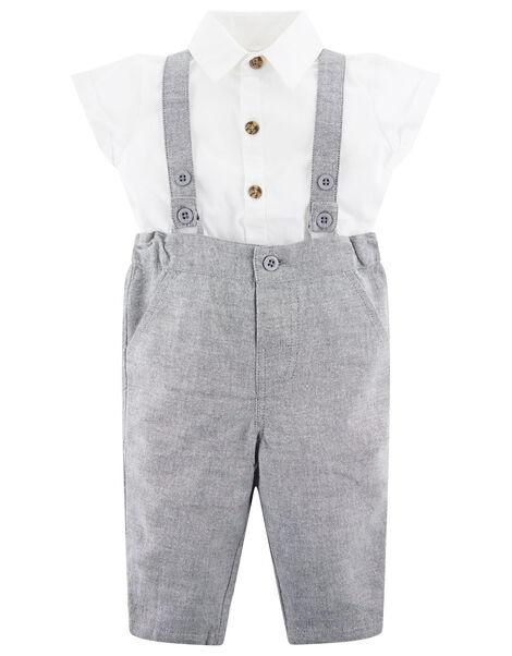 Newborn Baby Suit Set  Grey, Grey (GREY), large