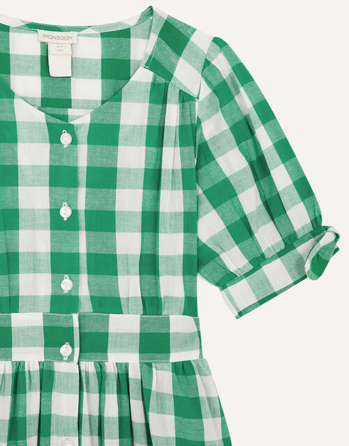 MINI ME Amina Gingham Dress, Green (GREEN), large
