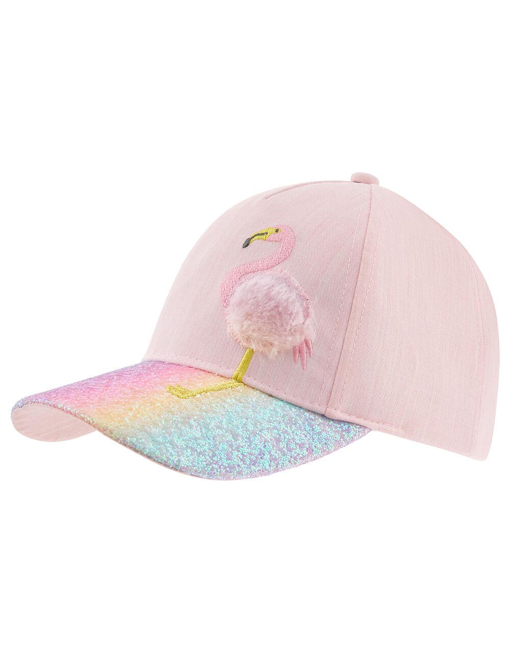 Rainbow Glitter Flamingo Cap, Pink (PINK), large