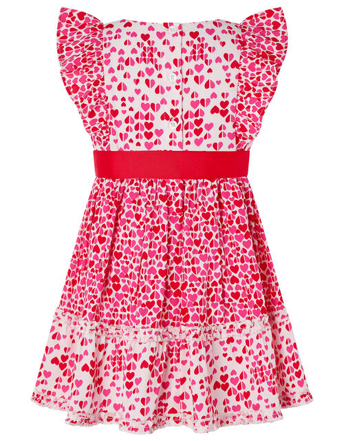 Baby Aria Heart Dress, Red (RED), large