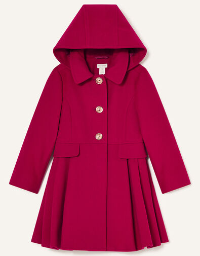 Back to School Hooded Coat Red, Red (RED), large