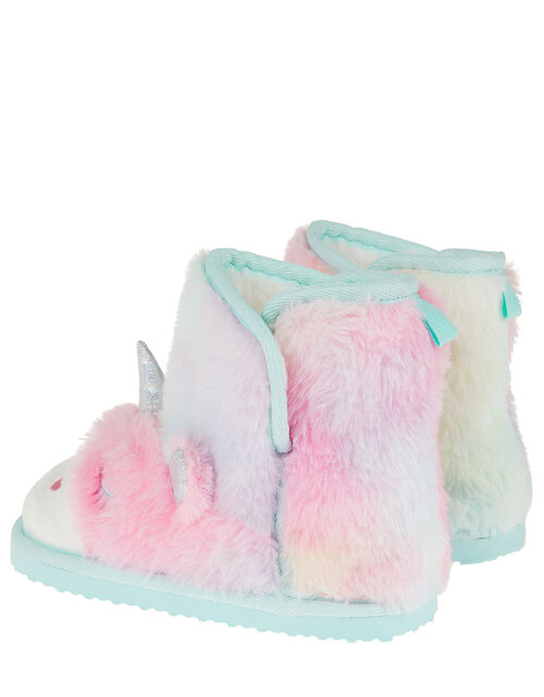 Fluffy Unicorn Slipper Boots, Blue (BLUE), large