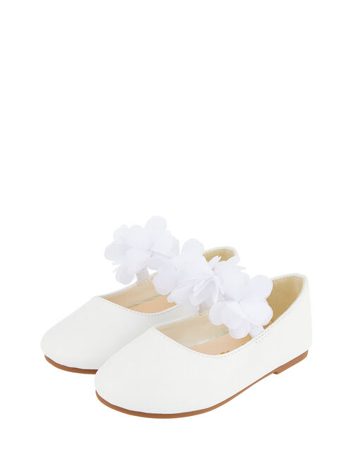 Baby Macaroon Corsage Walker Shoes, Ivory (IVORY), large