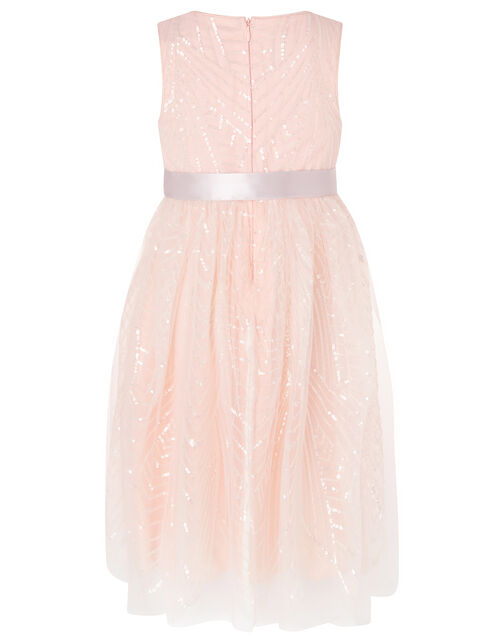 Sequin Pattern Dress, Pink (PINK), large