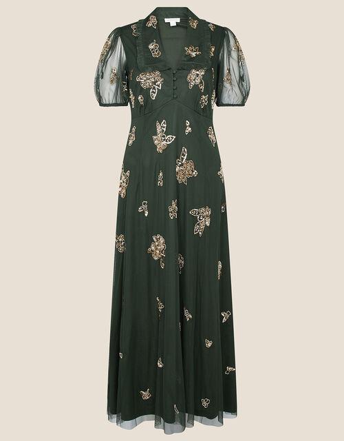 Lauren Embellished Tea Dress, Green (OLIVE), large