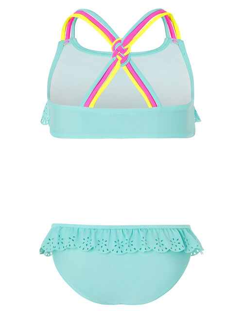 Lily Colourful Strap Bikini with Recycled Polyester, Blue (TURQUOISE), large