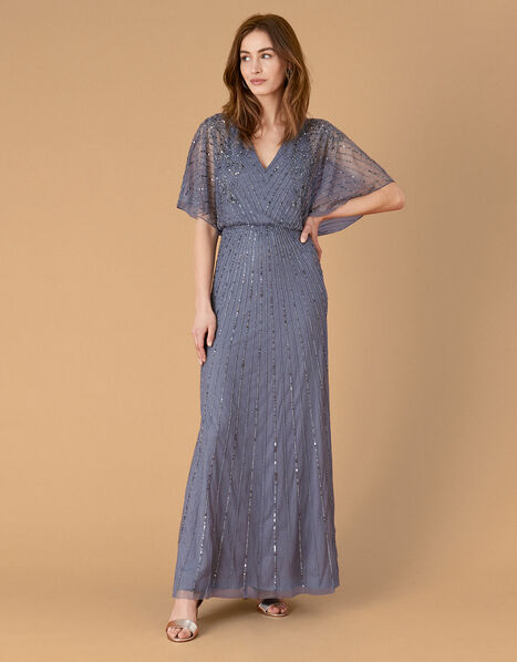 ARTISAN Holly Floral Maxi Dress Blue, Blue (DARK BLUE), large