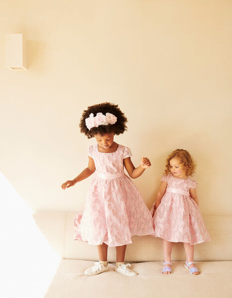 Baby Butterfly Jacquard Dress  Pink, Pink (PINK), large