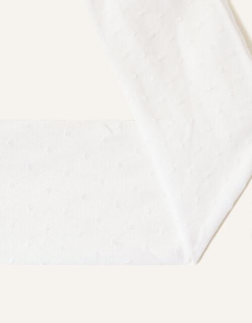 Baby Bridal Spot Tights, White (WHITE), large