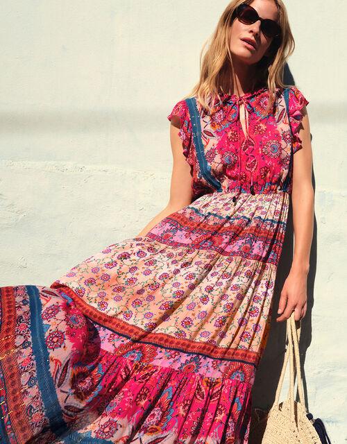 Tamalia Printed Maxi Dress LENZING™ ECOVERO™, Pink (PINK), large