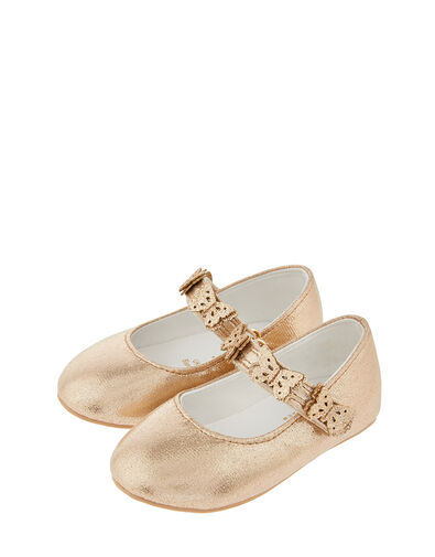 Baby Savannah Butterfly Walker Shoes Gold, Gold (GOLD), large