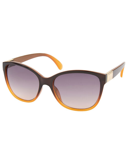 Kansas Classic Preppy Sunglasses, Brown (BROWN), large