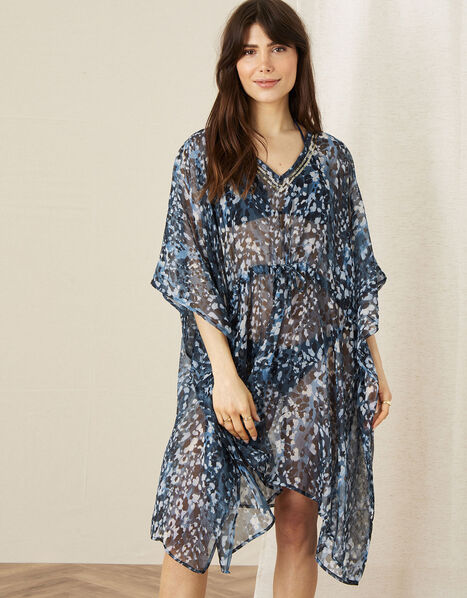 Maya Animal Print Kaftan, , large