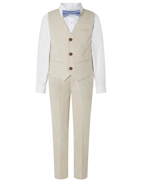 Sebastian Four-Piece Suit Set, Natural (STONE), large