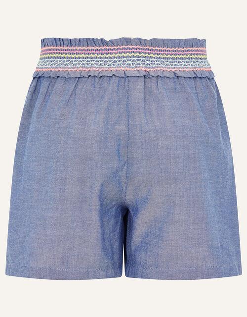 Fiesta Chambray Shorts , Blue (BLUE), large