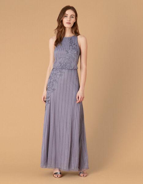 ARTISAN Summer Beaded Floral Dress Blue, Blue (DARK BLUE), large