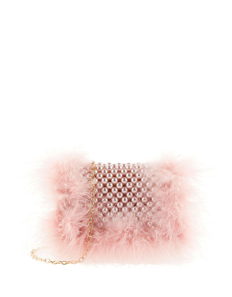 Showtime Fluffy Pearl Bag , , large