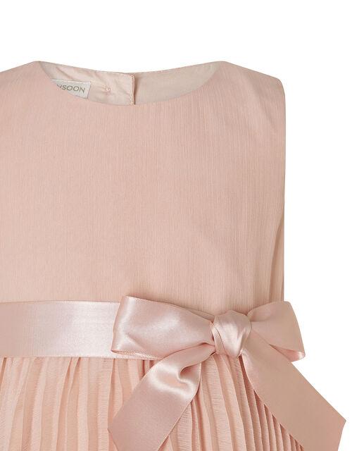 Baby Keita Pleated Dress, Pink (DUSKY PINK), large