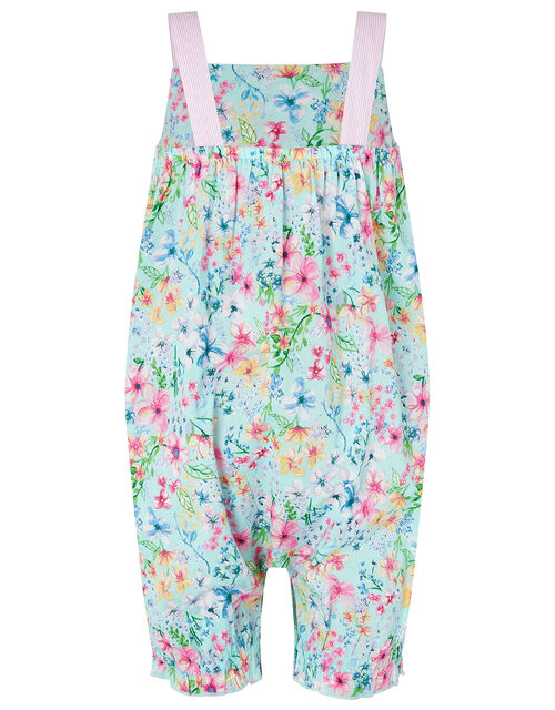 Baby Amberley Floral Romper, Blue (TURQUOISE), large