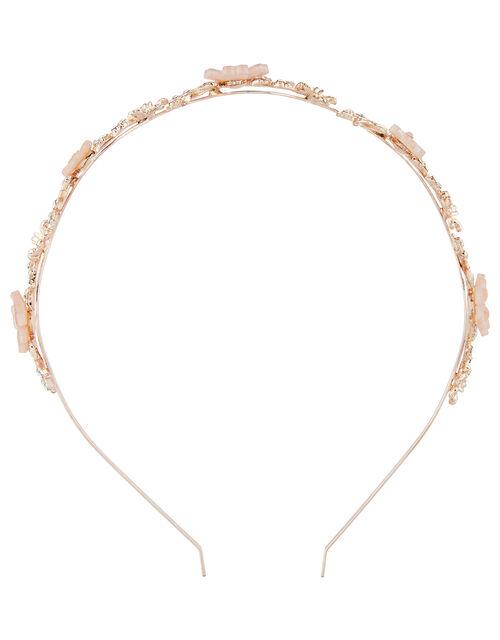 Flora Feather Diamante Headband, , large