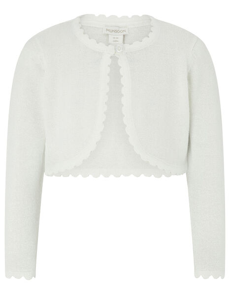 Baby Niamh Sparkle Knit Cardigan Ivory, Ivory (IVORY), large