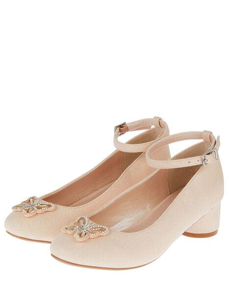 Shimmer Butterfly Heels Pink, Pink (PINK), large