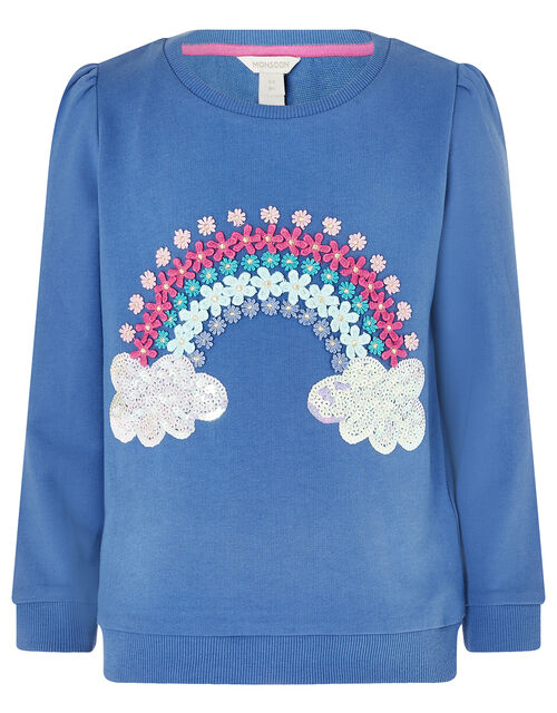 Rainbow Sweat Set with Organic Cotton, Blue (BLUE), large